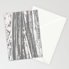 Cracking branch (charcoal) Stationery Cards