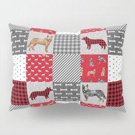 Australian Cattle Dog cheater quilt pattern dog lovers by pet friendly Pillow Sham