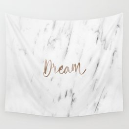 Rose gold marble dream Wall Tapestry