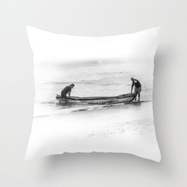 Fishermen Throw Pillow