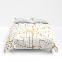 FORT WORTH CITY STREET MAP ART Comforters