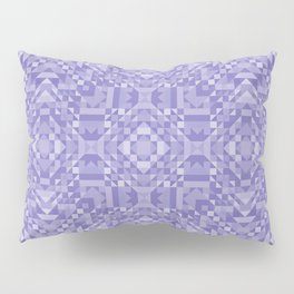 MELODY shades of light mauve purple in geometric pattern Pillow Sham