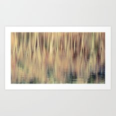 Abstract Trees Vintage Style Art Print