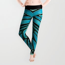Blue Morpho Butterfly Leggings