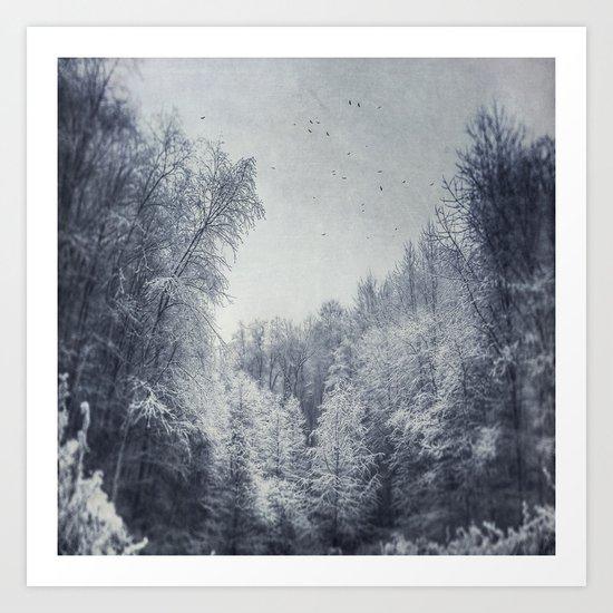 Dreamy Ice World Art Print