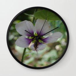 Light and Dark Purple Flower Wall Clock