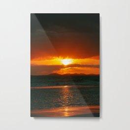 Harlech Sunset Metal Print