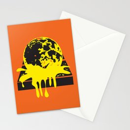 Moon Melting on the Sidewalk Stationery Cards