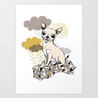 chihuahua Art Prints featuring Chihuahua by Camille Roy