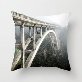 Bixby Canyon Bridge Throw Pillow
