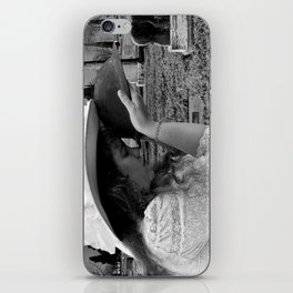 Gilded Memorial Black and White iPhone Skin