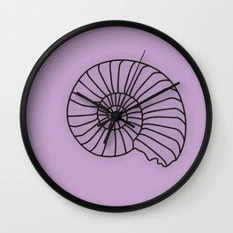 Lilac Seashell Art Print Home Decor Sea Theme Shell Print Wall Clock