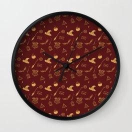 Gryffindor Pattern Wall Clock