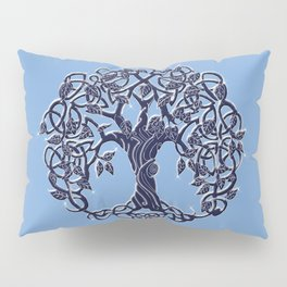 Tree of Life Blue Pillow Sham