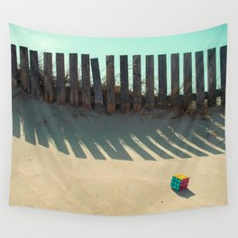 Rubik shading in the beach Wall Tapestry