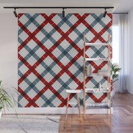 Colorful Geometric Strips Pattern - Kitchen Napkin Style Wall Mural