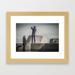 Different Interests Framed Art Print