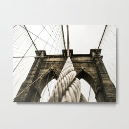NYC Brooklyn Bridge | Escape line for eternity Metal Print