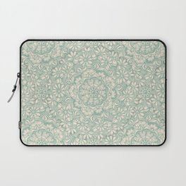 Sage Medallion with Butterflies & Daisy Chains Laptop Sleeve