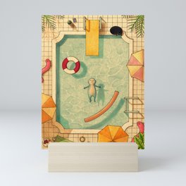 Pool Thoughts Mini Art Print
