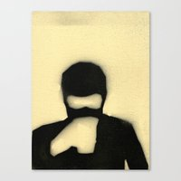 college Canvas Prints featuring COLLEGE Ninja by Jason Douglas Griffin