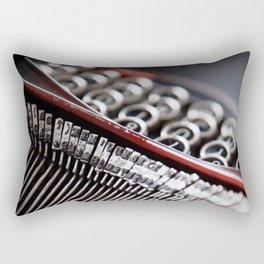 Typewriter Angled Rectangular Pillow