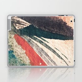 Thunder&Lightning {3}: Minimal watercolor abstract in pinks, blues, and greens Laptop & iPad Skin