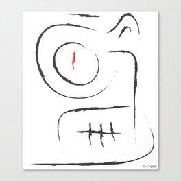 Alien Face Canvas Print