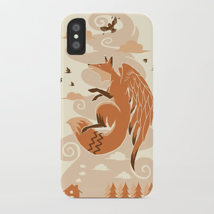 The Flying Fox's First Flight iPhone Case