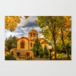 Autumn at Holy Cross Greek Canvas Print