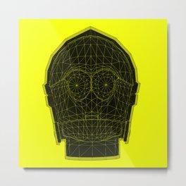 C3p-yellow Metal Print