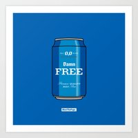Art Print featuring DAMN FREE by MEET THE PUGS