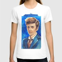 david tennant T-shirts featuring David Tennant 10th Doctor Who by Tiffany Willis