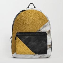 Gold foil white black marble #4 Backpack