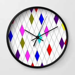 A Harlequin Design Like Stained Glass Wall Clock