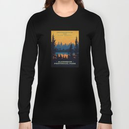 Vintage Algonquin Canada Travel Poster Long Sleeve T-shirt
