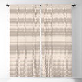 Toasted Almonds   Tiny Horizontal Stripes Pattern Blackout Curtain