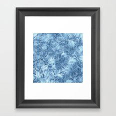 Frozen Leaves 8 Framed Art Print