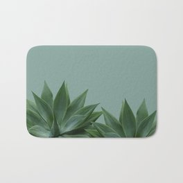 two big Agave leaves green Bath Mat