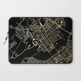 Wilkes-Barre Gold and Black Map Laptop Sleeve
