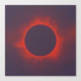 Solar Eclipse in Martian Colors Canvas Print