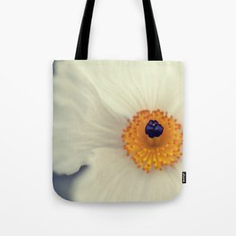 White Argemone Flower Photograph Tote Bag