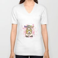 bee and puppycat V-neck T-shirts featuring Bee and Puppycat by diana benitez
