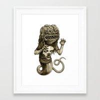 demon Framed Art Prints featuring Demon by Tim Maclean