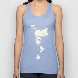 Dymaxion Map of the World Unisex Tank Top