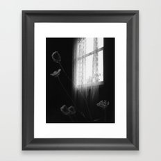 Window Flowers Framed Art Print