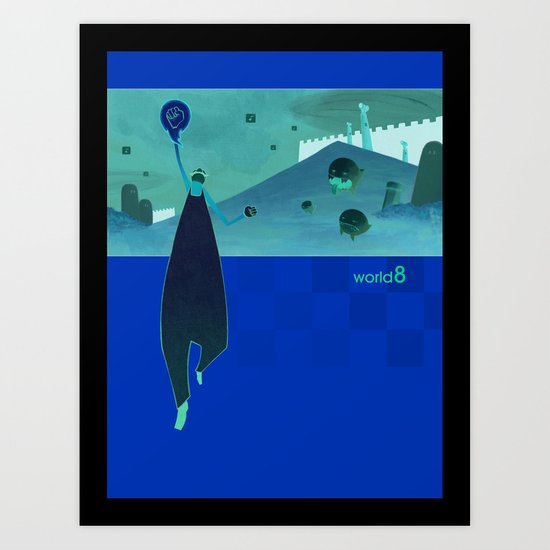 world8 Art Print
