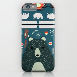Bear Christmas decoration iPhone Case