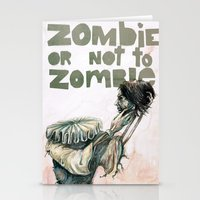 shakespeare Stationery Cards featuring Zombie + Shakespeare by Stephane Lauzon