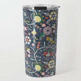 BOHO Chintz (Periwinkle grey) Travel Mug